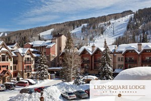 Lion Square Lodge & Conference Center :: Beautiful New Renovation! Slopeside location, steps from the Gondola, in Lionshead Village. 1-3 bedroom condos with kitchen, fireplace & balcony. Pool, hot tubs & restaurant.